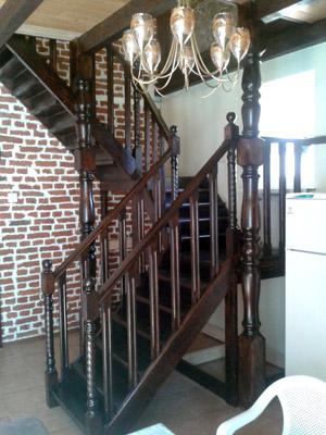 двухмаршевая п образная лестница