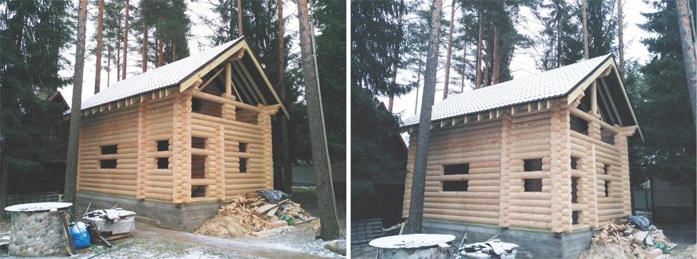 дом из бревна колосково